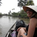 Jemma Being Rowed Down The Mekong