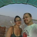 Sailing on the Mekong River, Cambodia